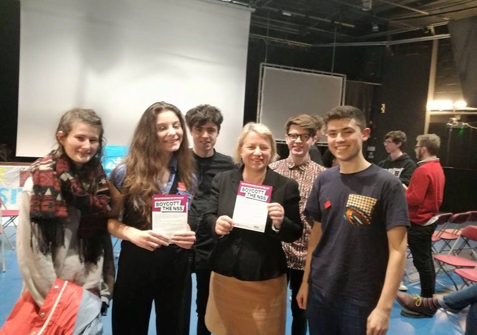 Rally against rising tuition fees joined by Natalie Bennett