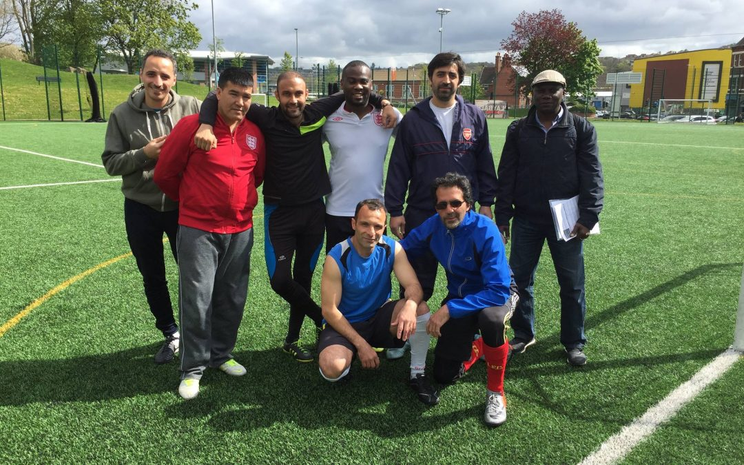Football unites Sheffield refugees against racism