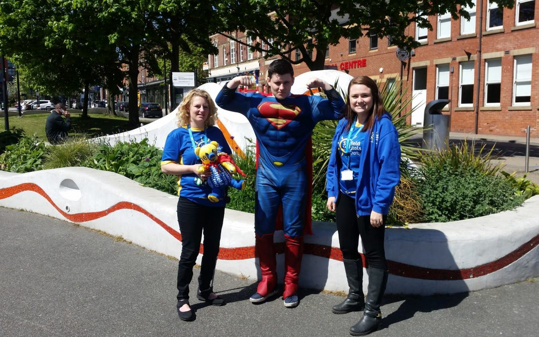 Superhero takes to Sheffield streets to promote hospital fundraising