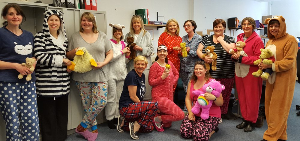 Workers dress as teddy bears to raise awareness for Brain Injury Week
