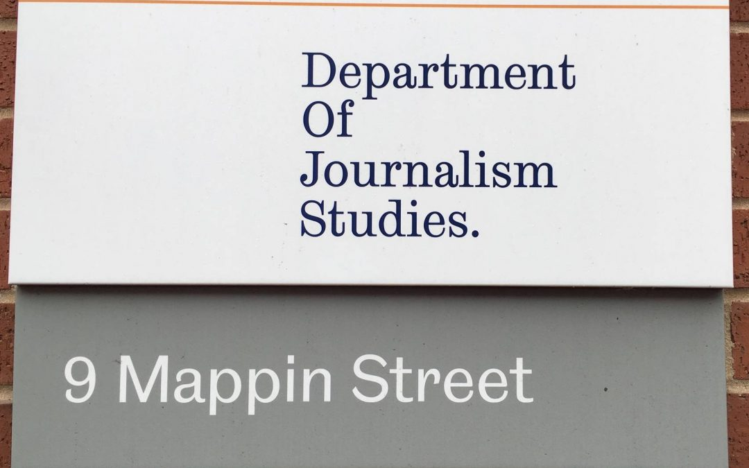 The University of Sheffield's Journalism Department celebrate top spot on the Guardian's University League Table 2018