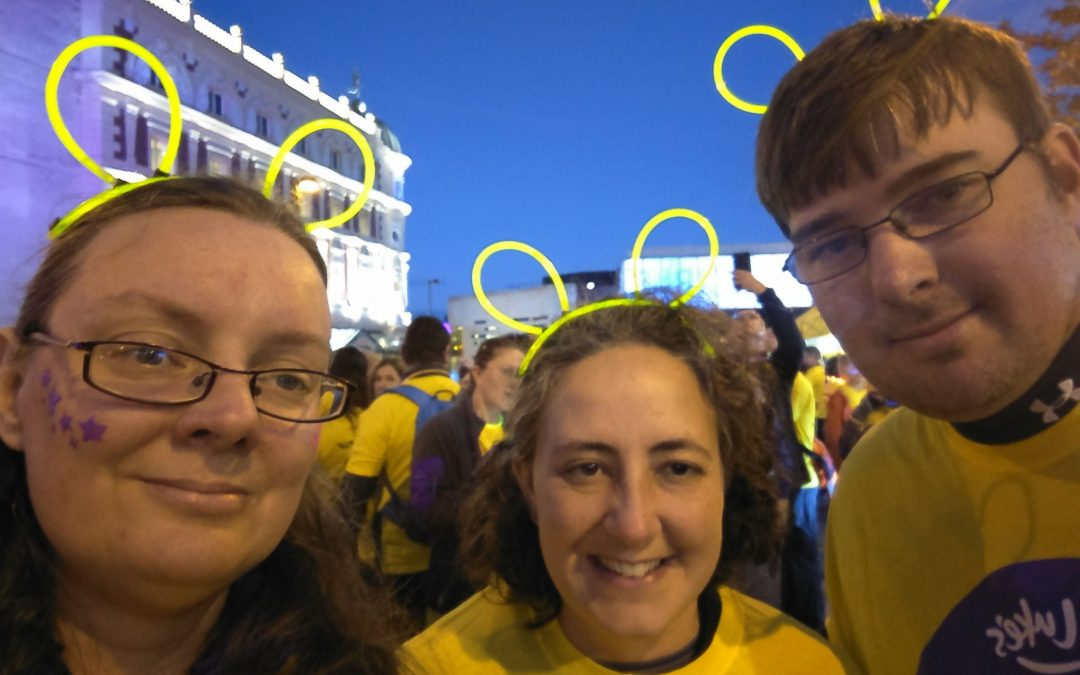 University staff fundraise in the moonlight for local hospice