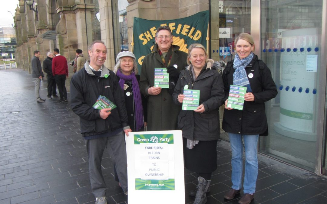 Sheffield Green Party demand better facilities for Sheffield Station
