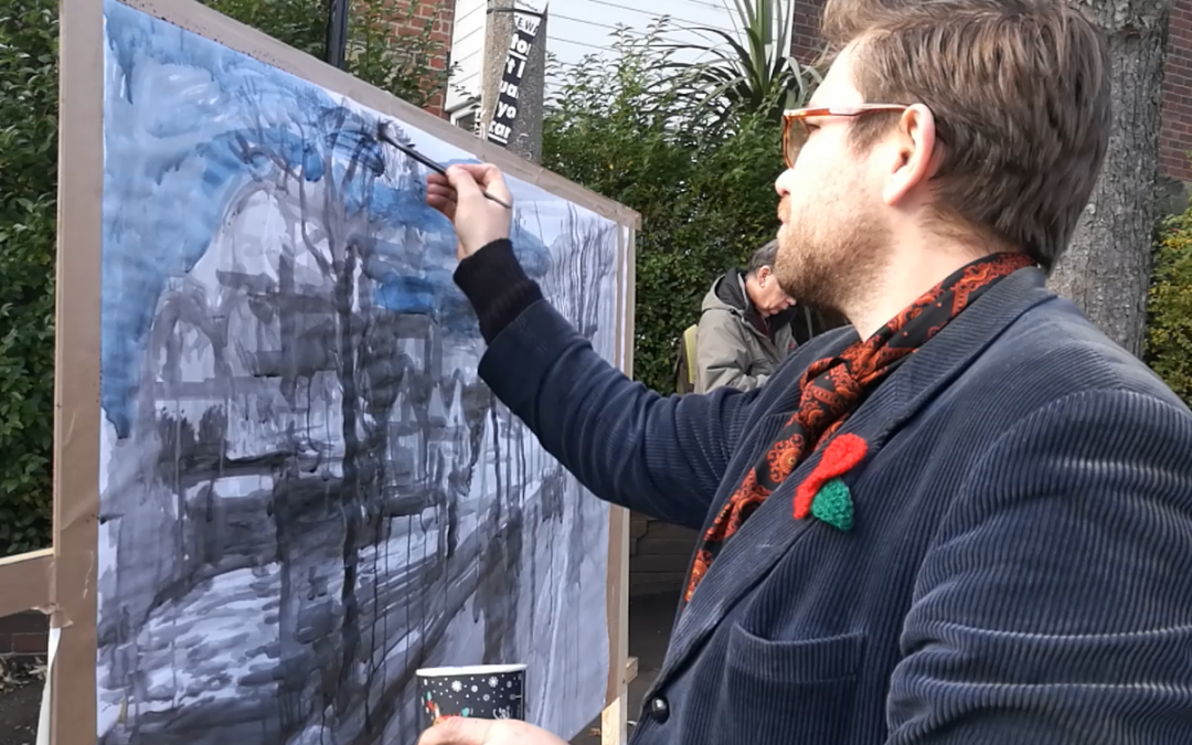 Under threat WW1 memorial trees painted for Armistice Day