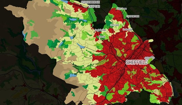New ordinance maps: how Sheffield's environment compares