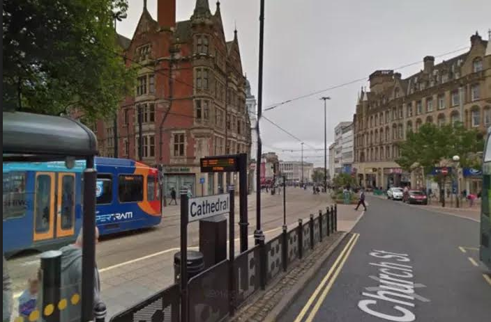 Trams have stopped running after a man fell ill on Sheffield tram