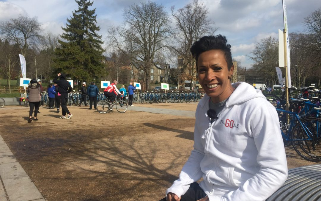 Dame Kelly Holmes trains Sheffield students for 46-mile bike ride