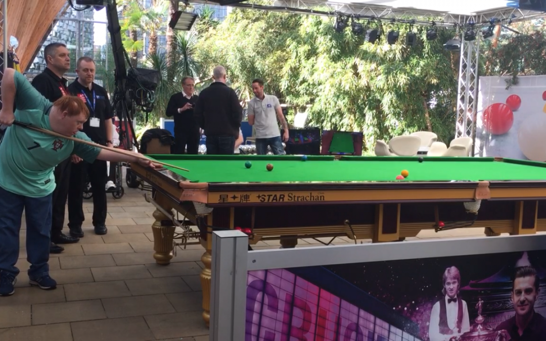 World Snooker Disability Day descends on Sheffield's Winter Gardens