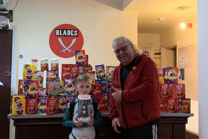 Easter egg appeal for young Blades fan