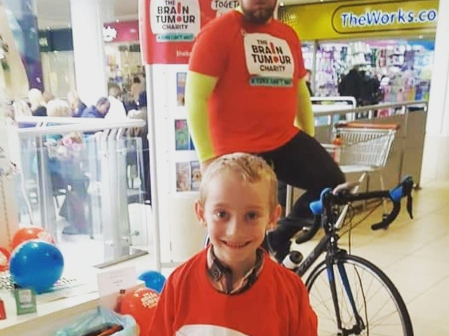 A 227 mile cycle ride to Southampton in aid of the Brain Tumour Charity