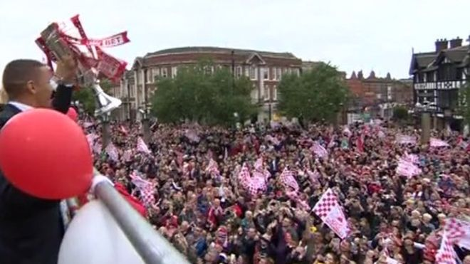 Blades set to celebrate promotion with open-top bus parade