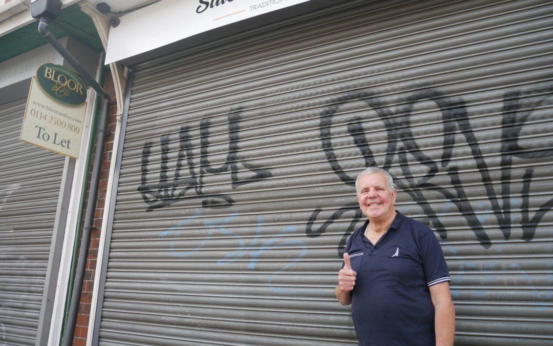 Sharrow community combats graffiti vandals