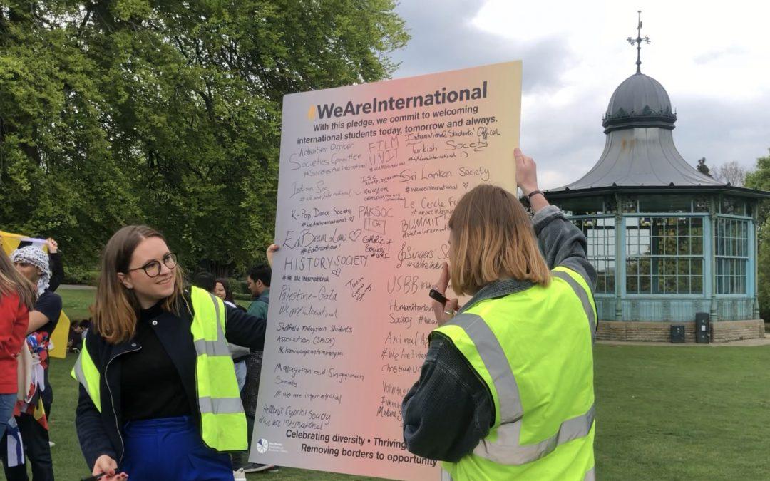 University Students Pledge to Always be International
