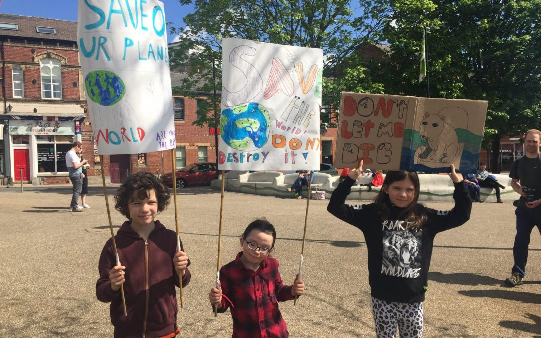 Sheffield Green Parents March for Climate Change Emergency