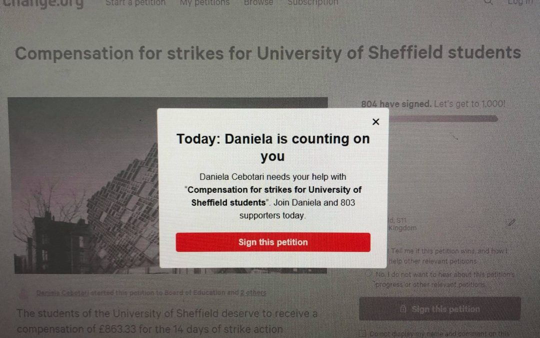 Sheffield students launch petition demanding their money back