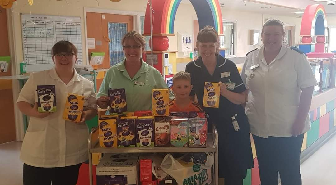 POORLY BOY PLANS TO GIVE EASTER EGGS TO HOSPITAL CHILDREN