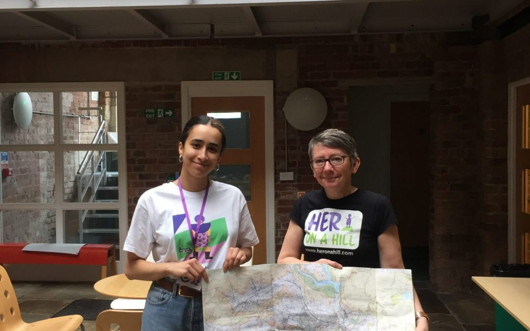 SheFest teaches women about the importance of reading maps in living independently as part of the International Women's Day