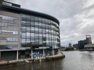 An image of BBC Studios at MediaCityUK, Salford