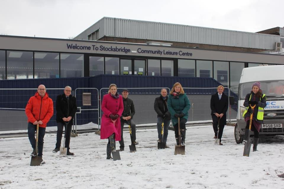 Regeneration of town continues with major renovation work on Sheffield leisure centre.