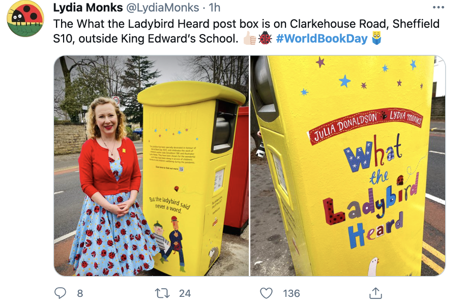 Sheffield's World Book Day letter box