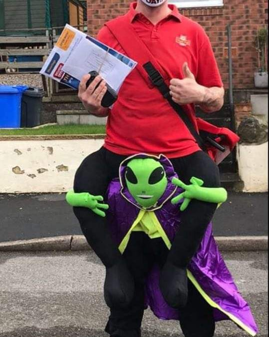 Meet the Sheffield postman doing his bit for Comic Relief