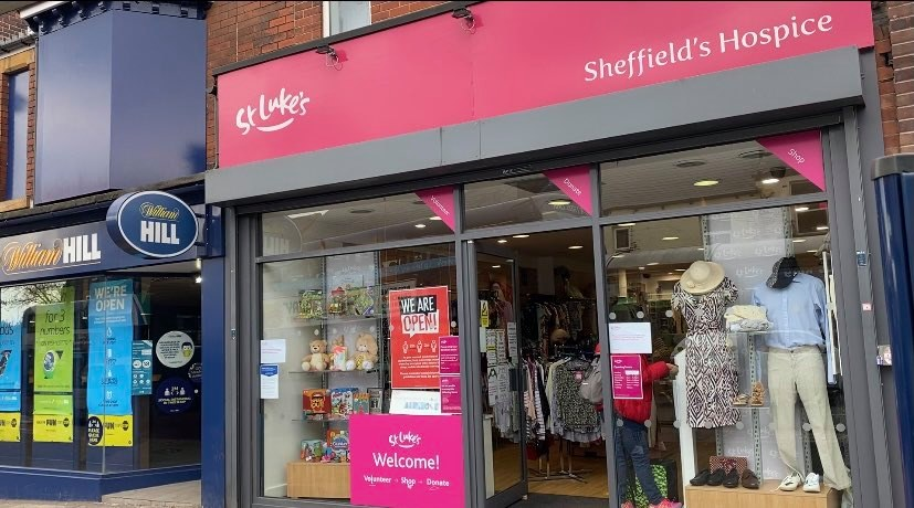 A St Luke's charity shop in Sheffield welcomes it's customers back for the first time since the beginning of the pandemic
